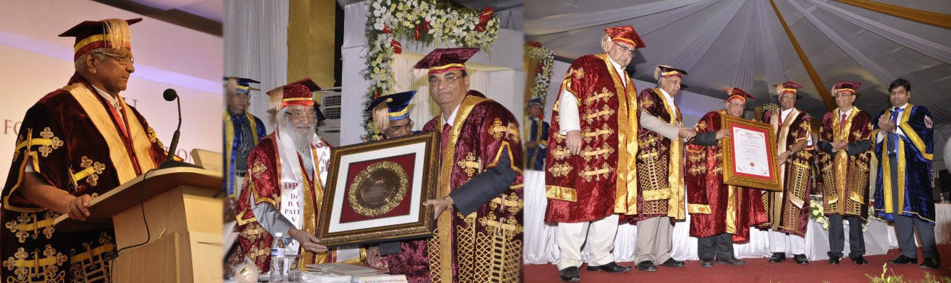 Dr. D. Y. Patil Vidyapeeth, Pune, held its Fourth Convocation on Sunday, April 14, 2013.