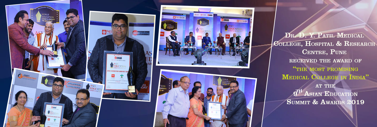 The most promising Medical College in India award - 2019 Delhi