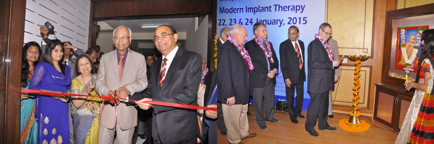 Inauguration of State of the art DPU Dental Implant Center by  Dr. R. A. Mashelkar on 22 January 2015