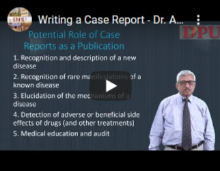 Writing a Case Report - Dr. A. L. Kakrani