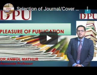 Selection of Journal/ Cover Letter Writing With Title Page / Online Submission/format-free Submission - Dr. Anmol Mathur